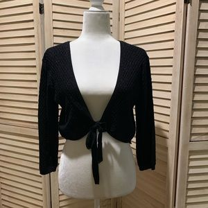 Sparkle shrug sweater